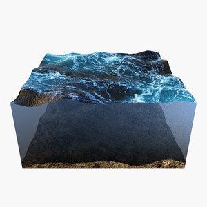 ocean sea landscape 3D model