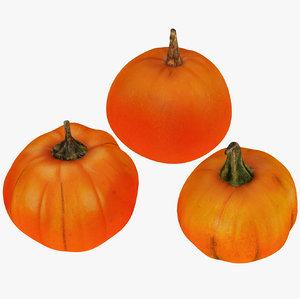3D pumpkin fruit