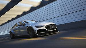 3D car render scene -