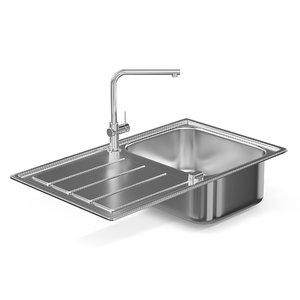 metal kitchen sink model