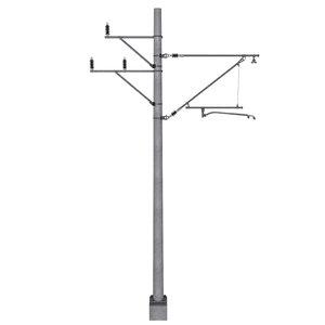 3D electric concrete pole train track
