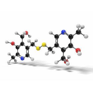 3D pyritinol vitamin b6 molecule