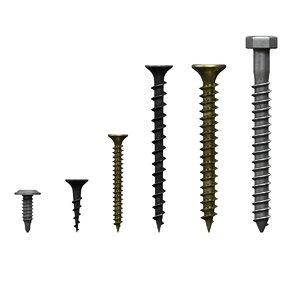 screws pack 01 3D model