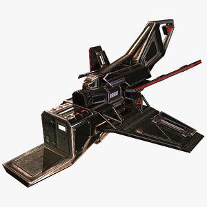 3D spaceship tail b