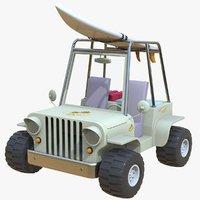 Cartoon Beach Jeep Car