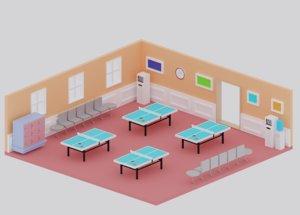 3D cartoon table tennis ping pong