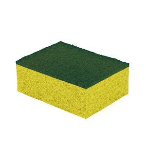yellow washing sponge model