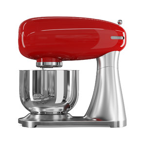 red metal food processor 3D