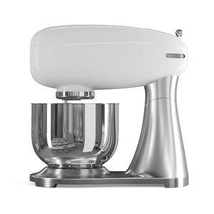 3D white food processor model