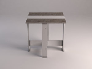 table dining folding 3D model