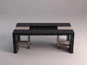 3D table dining marble