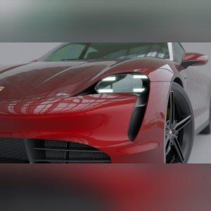 taycan sportscar 3D model