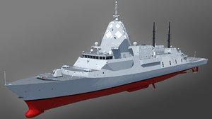 hunter class frigate sea 3D