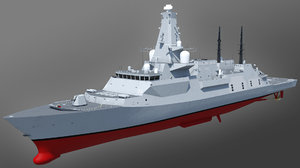 3D type 26 global combat ship model