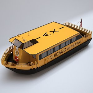 chicago water taxi 3D model