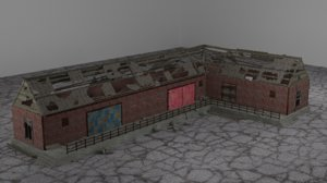 old ruined building 3D model