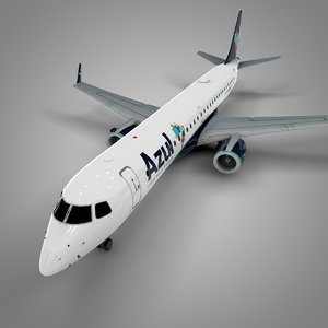 3D azul brazilian airlines embraer195