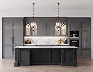 3D classic kitchen 1 miele