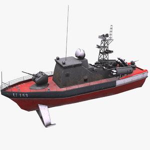 3D missile boat matka class model