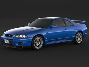 3D car nissan skyline r33
