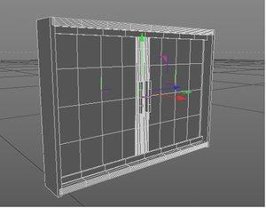 3D model janela