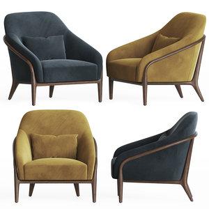 3D adele armchair designlush