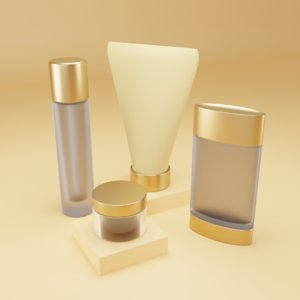 3D model products pack shampoo