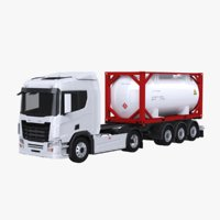 Euro Truck and ISO 20 Tanker Trailer