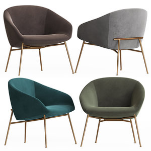 3D love swivelling armchair calligaris