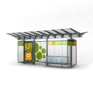 bus shelter model
