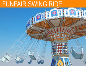 3D funfair fun ride