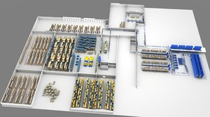 sorting conveyors storage 3D model