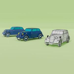 classic compact car 3D model