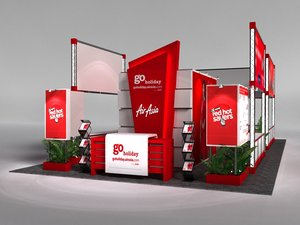 airasia 6 x 12 3D model