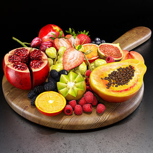 3D model fruits set 01