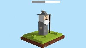 3D voxel gandalf 1
