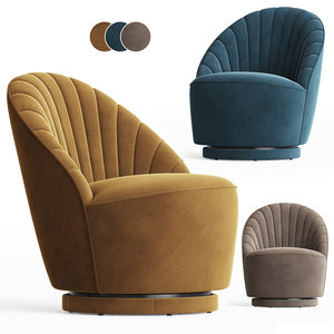 3D fauteuil madison armchair homestock