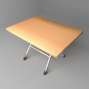square folding table 3D model