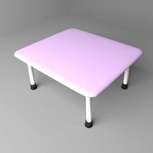 folding table personal 3D model