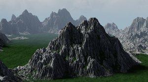 3D rock mountains landscape
