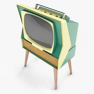 sylvania dualette television 3D