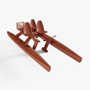 3D pedalo boat model