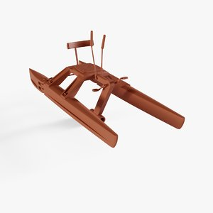 3D pedalo boat