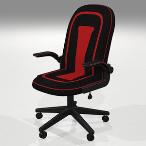 chair office gaming 3D model