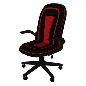3D model chair office gaming