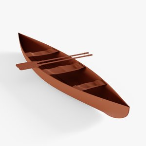 3D canoe boat