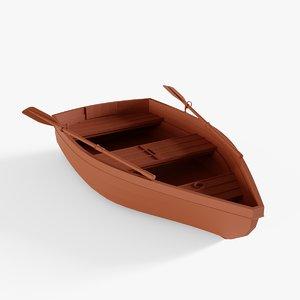 wooden skiff model