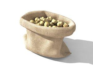 potato sack 3D model