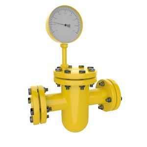meter gas pipe model