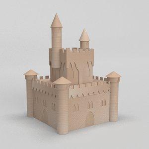 cardboard castle 3D